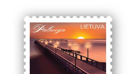 Pašto ženkle įamžintas populiariausio Lietuvos kurorto simbolis – Palangos tiltas
