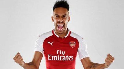 """""""Arsenal"""" rekordas – klubas nusipirko Pierre'ą-Emericką Aubameyangą"""