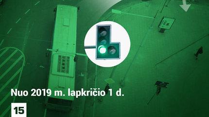 """Kaune """"žalios rodyklės"""" pakeistos papildomom šviesoforo sekcijom: kaip tai veikia?"""