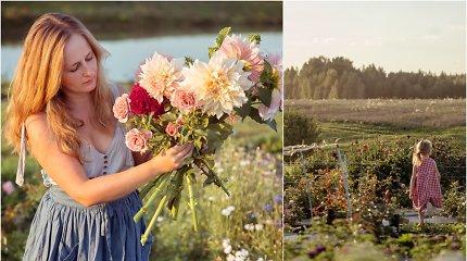 Iškeitę miestą į kaimą, Angelina ir Dainius įkūrė skinamų gėlių ūkį: dėl jo kartais nemiegame