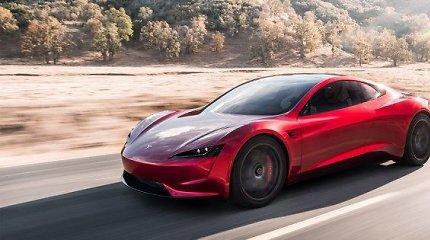 """Elonas Muskas atskleidė daugiau detalių apie išskirtinį automobilį """"Tesla Roadster"""""""