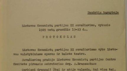 Ypatingasis archyvas pristato parodą apie Lietuvos komunistų partijos atsiskyrimą nuo Maskvos