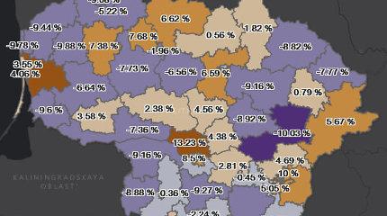 VRK žemėlapyje pristatė besikeičiantį rinkėjų skaičių apygardose