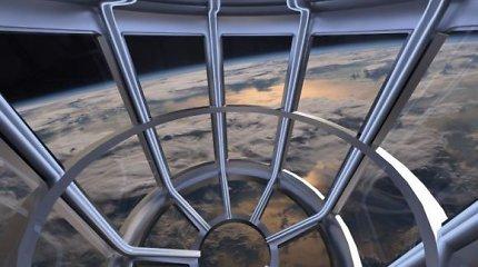 8 privačios kabinos iš kurių bus galima grožėtis Žeme iš orbitos