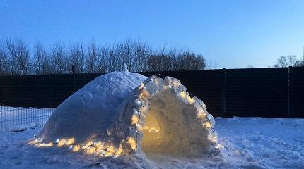 Skelbiu.lt: Kaune nuomojamas itališko dizaino eskimų namelis – sniego patalai už 150 eurų