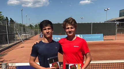 Vienas perspektyviausių Lietuvos tenisininkų tapo ITF jaunių turnyro nugalėtoju