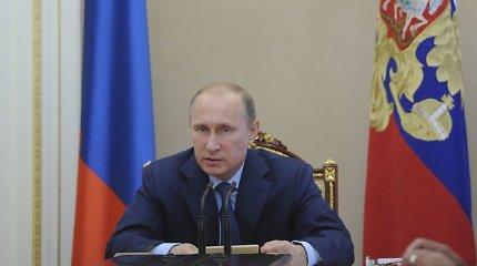 Vladimiras Putinas pripažino, kad niekas Rusijai grėsmės nekelia