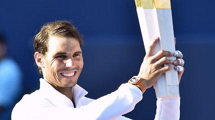 """Graiko pasaką nutraukęs Rafaelis Nadalis laimėjo 33-ąjį """"Masters"""" serijos turnyrą karjeroje"""