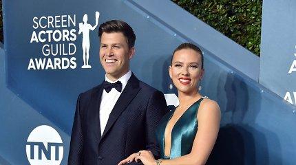 Scarlett Johansson ir jos sutuoktinis Colinas Jostas