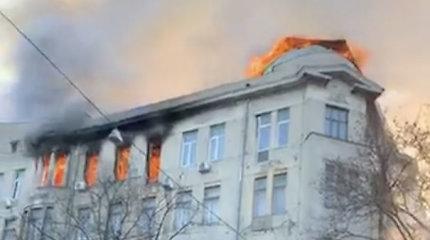 Po didelio gaisro Odesos kolegijoje 14 žmonių laikomi dingusiais