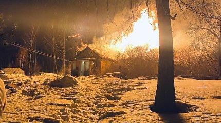 Vilniuje liepsnojo gyvenamasis namas, žuvo du žmonės