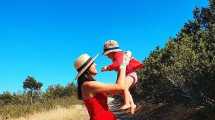 Rolandas ir Ieva Mackevičiai su vaikais atostogavo Nidoje
