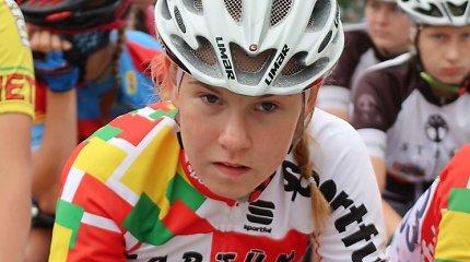 Dviratininkė Akvilė Gedraitytė Europos jaunių čempionate buvo arti medalio