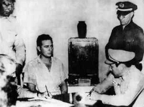 Wikipedia.org nuotr./Fidelis Castro teisme po Moncados kareivinių atakos (1953 m.)