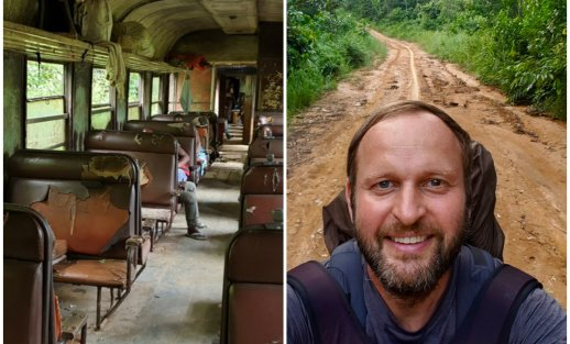 Ekspedicija Afrika: nelegalus Kongo sienos kirtimas ir kelionė baisiausiu traukiniu gyvenime
