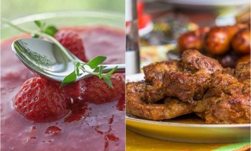Saulėto savaitgalio valgiaraštis: grilius, gaivios sriubos, braškės ir kiti malonumai