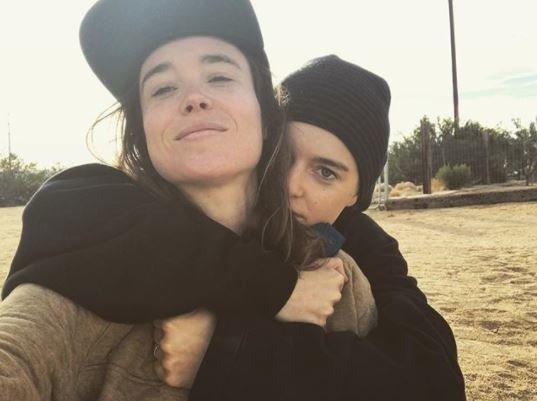 Instagram nuotr./Ellen Page ir Emma Portner