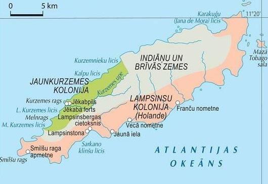 Praeitiespaslaptys.lt nuotr. /Kuržemės kolonija latviškame geografijos atlase