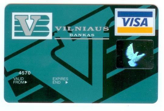 Pirma lietuviška kortelė 1993m.