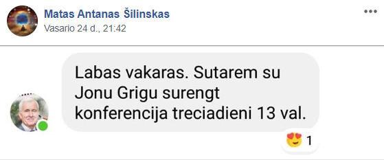 """15min nuotr./M.A.Šilinsko įrašas feisbuko grupėje """"5G – Faktai ir Žinios"""""""