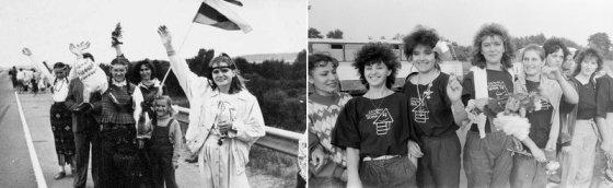 V.Kapočiaus ir V.Ščiavinsko/ Lietuvos centrinis valstybės archyvas nuotr./Devintojo dešimtmečio žmonės. Baltijos kelias