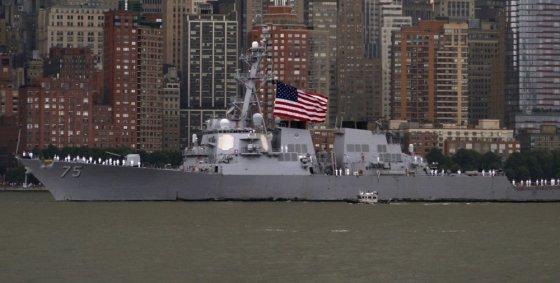 """Reuters""/""Scanpix"" nuotr./JAV eskadrinis minininkas ""USS Donald Cook"""