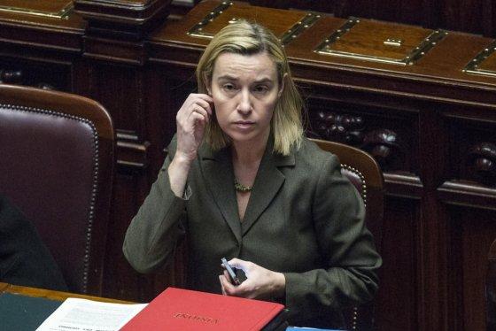 """""""Scanpix"""" nuotr./Italijos užsienio reikalų ministrė Federica Mogherini"""