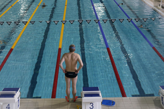 Eriko Ovčarenko/15min.lt nuotr./Kauno plaukimo centre