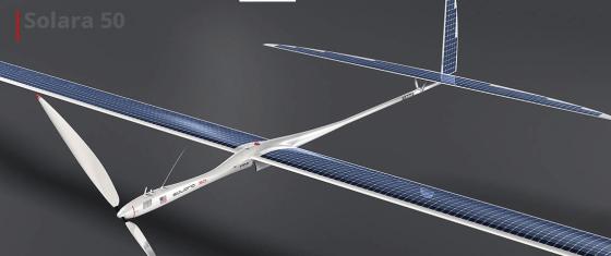 "Titan Aerospace nuotr./""Titan Aerospace"" dronas Solara 60"