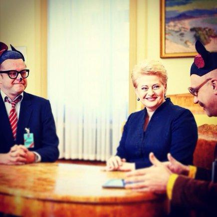 Facebook nuotr./Rimas Šapauskas, Dalia Grybauskaitė ir Algis Ramanauskas