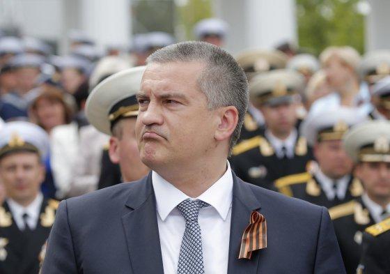 """""""Reuters""""/""""Scanpix"""" nuotr./partijos """"Rusų vienybė"""" lyderis Sergejus Aksionovas Sevastopolyje"""