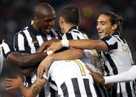 """""""Reuters""""/""""Scanpix"""" nuotr./""""Juventus"""" džiaugsmas išplėšus pergalę"""