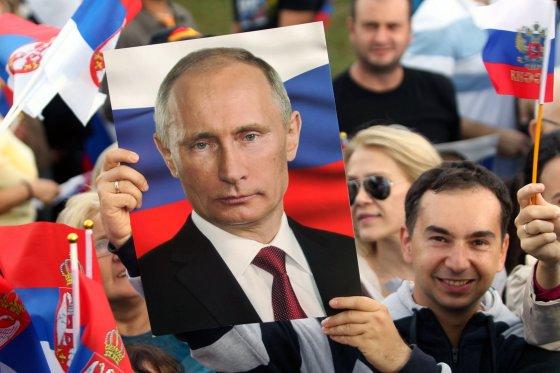 """Scanpix"" nuotr./V.Putino sutiktuvės Belgrade"