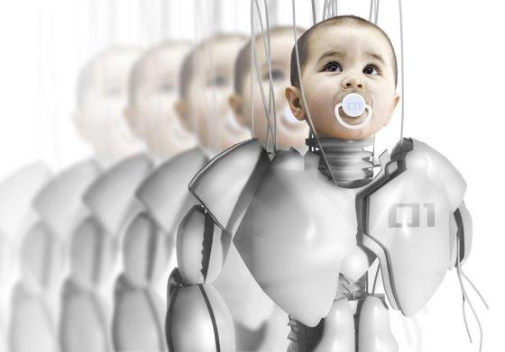 Fotolia nuotr./Vaikas - robotas