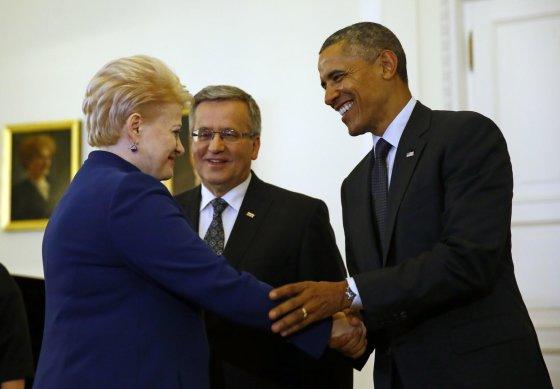 """Reuters""/""Scanpix"" nuotr./Dalia Grybauskaitė ir Barackas Obama"