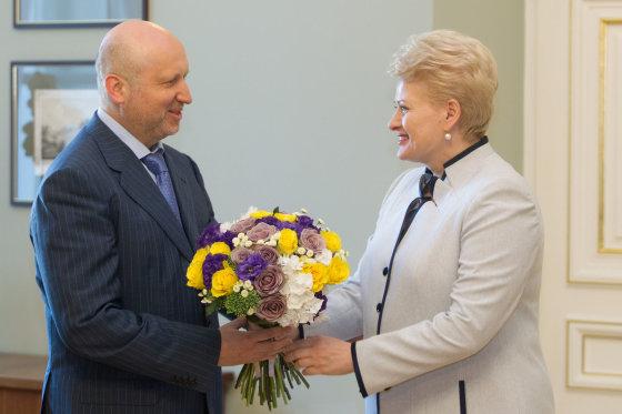 BFL/Vyginto Skaraičio nuotr./Oleksandras Turčynovas ir Dalia Grybauskaitė