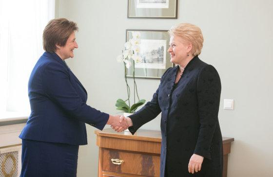 Juliaus Kalinsko/15min.lt nuotr./Dalia Grybauskaitė ir Loreta Graužinienė
