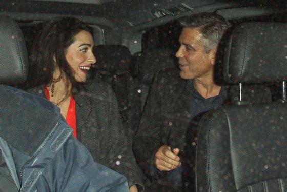 AOP nuotr./George'as Clooney ir Amal Alamuddin