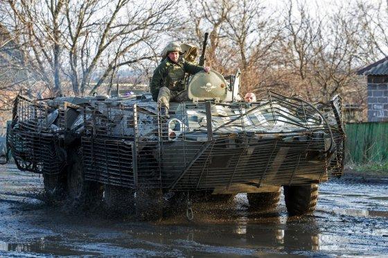 """AFP/""""Scanpix"""" nuotr./Ukrainos kariai Horlivkoje"""