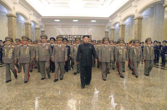 """AFP/""""Scanpix"""" nuotr./Šiaurės Korėjos lyderis Kim Jong Unas"""