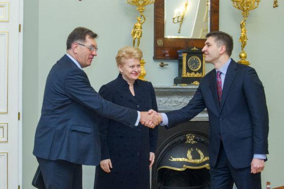 BFL/Butauto Barausko nuotr./Algirdas Butkevičius, Dalia Grybauskaitė ir Jaroslavas Neverovičius