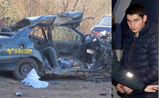 15min.lt nuotr./fotomontažas/Mantas Šironas sukėlė avariją, per kurią žuvo trys žmonės. Vairuotojas pripažintas žudiku ir nuteistas kalėti 14 metų.