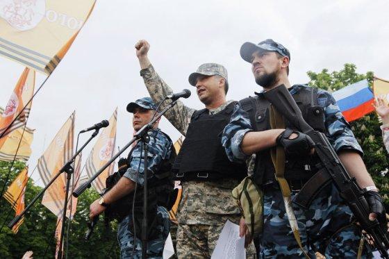 """""""Reuters""""/""""Scanpix"""" nuotr./Prorusiški teroristai rytų Ukrainoje"""