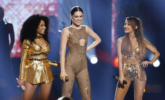 """Reuters""/""Scanpix"" nuotr./Nicki Minaj, Jessie J ir Ariana Grande"