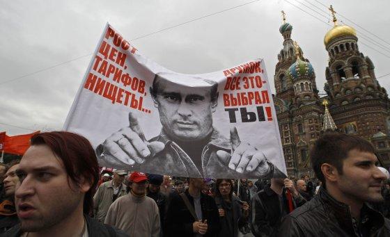 """Reuters""/""Scanpix"" nuotr./Protestas prieš V.Putiną 2012 m."