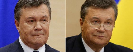 """""""Reuters""""/""""Scanpix"""" nuotr./Viktoras Janukovyčius 2014 metų kovo 11 dieną (kairėje) ir vasario 28 dieną (dešinėje)"""