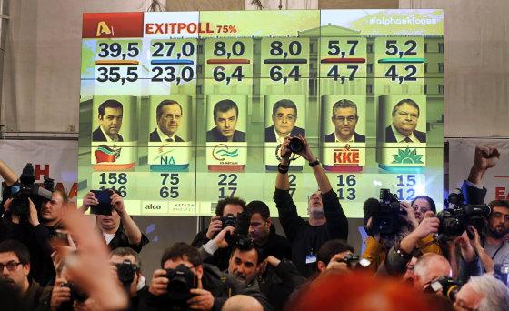 """""""Reuters""""/""""Scanpix"""" nuotr./Rinkimai Graikijoje"""