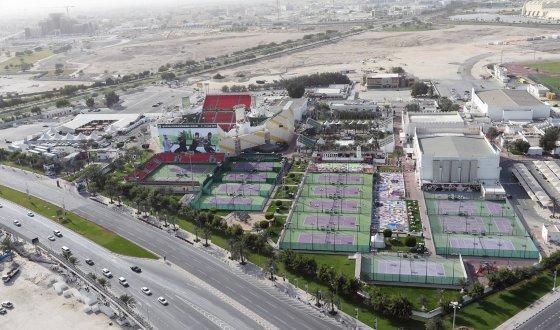 "Facebook.com/""Qatar ExxonMobil Open"" turnyro kortai Katare"