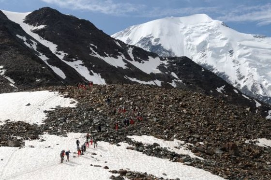 """AFP/""""Scanpix"""" nuotr./Kopimas į Monblaną (Mont Blanc)"""