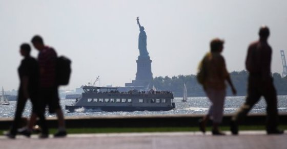 "AFP/""Scanpix"" nuotr./Niujorkas prieš uraganą"